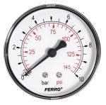 Nyomásmérő óra 0-10bar fekvő