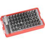 behajtó klt. 51 db Cr.V., lapos:3-7mm, PH0-3, PZ0-3, HEX 1,5-6mm, T és TTa 8-40, övre akasztható műanyag tartóban
