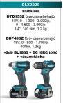 Makita DLX2220 akkus szett 18V Li-ion (BL - szénkefementes)