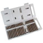 """bit klt., műanyag dobozban; CV., 40db-os, hatlap(H4-H12), XZN(Spline, TT5-TT12) és TORX (T20-T55), adapter 3/8"""" és 1/2"""